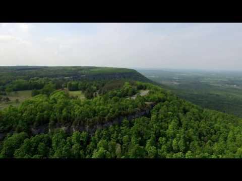 Adirondack Aerial Video of John Boyd Thacher Park - Albany County NY