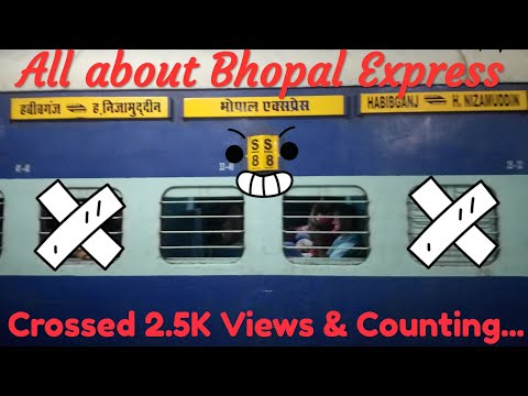 12155/12156 Shaan-E-Bhopal || Bhopal Express || All about Shaan-E-Bhopal (Bhopal Superfast Express)