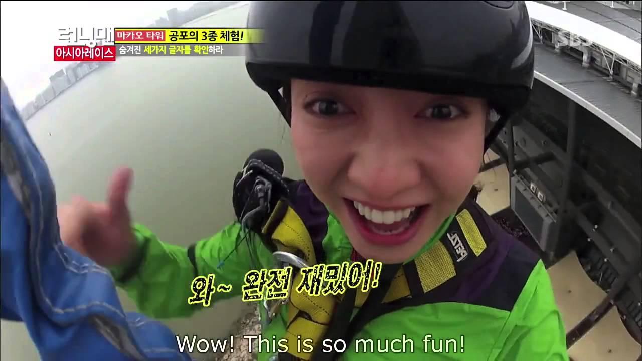 Running Man  Song Ji Hyo Bungee Jump 133]