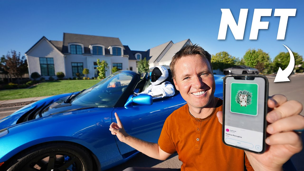TRADED MY TESLA ROADSTER FOR AN NFT!