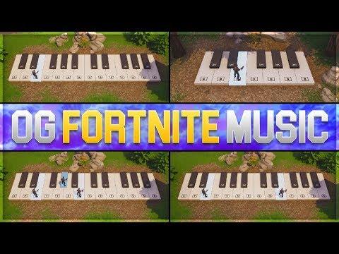 ♪ OG FORTNITE MUSIC made with GIANT FORTNITE PIANO ♪