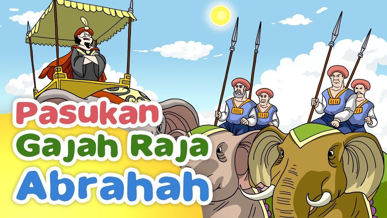 Kisah Pasukan Gajah Abrahah Menyerang Kabah Kartun Anak Muslim