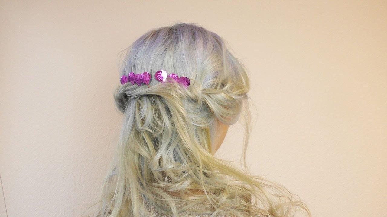 Super Meerjungfrauen Frisur Mit Ombre Haarfarbe Verkleidung Fur Karneval Mermaid Hairstyle