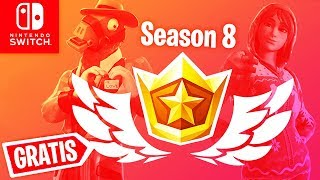 Season 8 Battle Pass GET FREE + Career is here | Fortnite Nintendo Switch