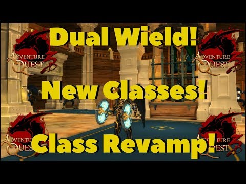AQ3D Dual Wield! NEW Classes! Class Revamps! AdventureQuest 3D