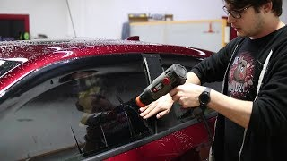 How to Shrink a D๐or Window   Single Snap Shrinking Window Tint