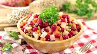 Салат Винегрет домашний с горошком. НОВЫЙ РЕЦЕПТ!(Винегрет - легкий и вкусный салат, к тому же, очень простой в приготовлении. Любителям диетического и здоро..., 2016-09-15T17:37:22.000Z)