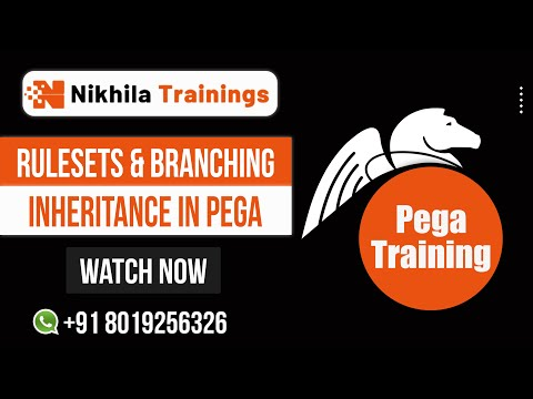 Inheritance, Rulesets, Branching in Pega-Training wats app +91 8019256326