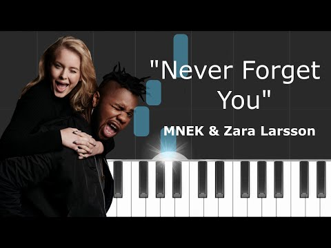 MNEK - ''Never Forget You'' ft Zara Larsson Piano Tutorial - Chords - How To Play - Cover