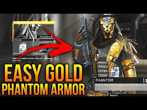 INFINITE WARFARE - HOW TO GET GOLD PHANTOM HERO ARMOR (Fast & Easy Guide)
