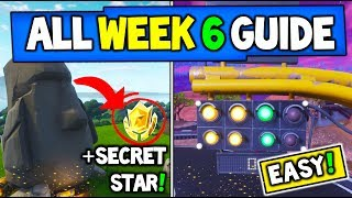 Fortnite WEEK 6 CHALLENGES GUIDE! – Stone Heads Are Looking, SECRET STAR, Trials + MORE (Season 5)