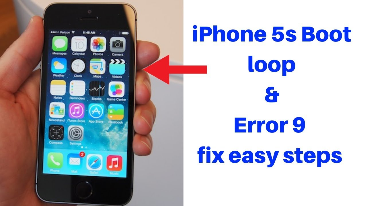 iPhone 5s error 9 done easy steps
