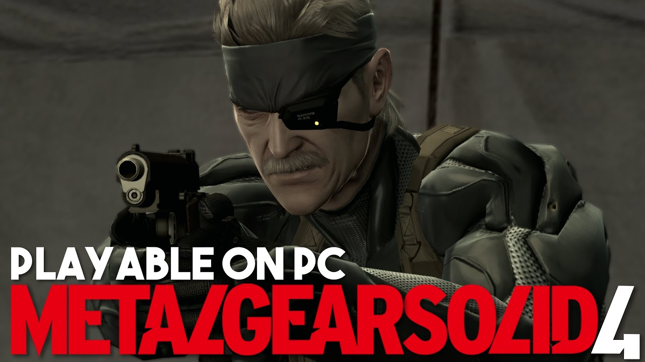 Metal Gear Solid 4 is Now Playable on PC via PS3 Emulation [Custom RPCS3 Build]