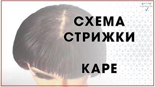 Схема стрижки на удлиненное каре / Урок для парикмахеров / Haircut Tutorial