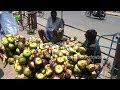 Tender Palm Fruit Cutting (Taati Munjalu) | Amazing Fruits Cutting Skills | Indian Street Food