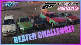 Forza Horizon 3 - $5000 Car Auction House Challenge! (Beaters, Funny Destruction!)
