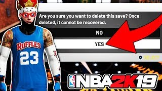 DELETING MY 97 OVERALL PURE SHARP IF I LOSE 😵 NBA 2K19