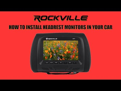 How To Install Headrest Monitors In Your Car (Easy Installation - Rockville Audio)