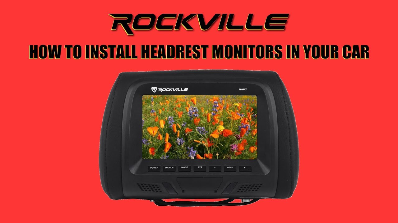 How To Install Headrest Monitors In Your Car Easy Installation Rockville Audio Youtube