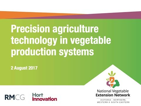 Precision agriculture technology in vegetable production systems (webinar recording)