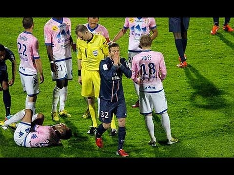 David Beckham red card misery in Paris - Off The Ball Daily