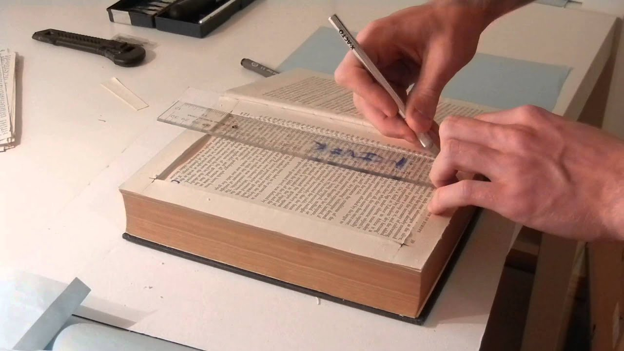 Make A Book With A Secret Compartment Youtube