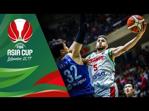 HIGHLIGHTS: Lebanon vs. Korea (VIDEO) FIBA Asia Cup 2017 | August 8