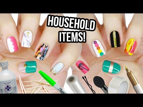 10 Nail Art Designs Using HOUSEHOLD ITEMS! | The Ultimate Guide #6