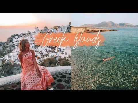 GREEK ISLANDS VLOG! MYKONOS, SANTORINI, IOS AND MORE | Ash Owens