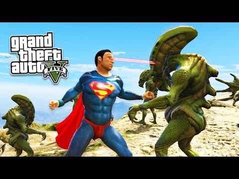 GTA 5 PC Mods - SUPERMAN MOD w/ SUPER MAN POWERS! GTA 5 Superman Mod Gameplay! (GTA 5 Mods Gameplay)