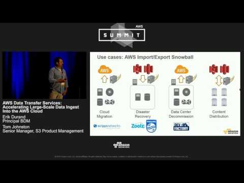 AWS Summit Series 2016 | Chicago - AWS Data Transfer Services: Accelerating Large-Scale Data Ingest