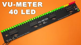 Vu Meter 40 LED on PCB with LM3915 TUTOR AL