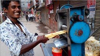 Sugarcane Juice Vendor with Itinerant Traditional Machine | Heathy street Drink In Bangladesh