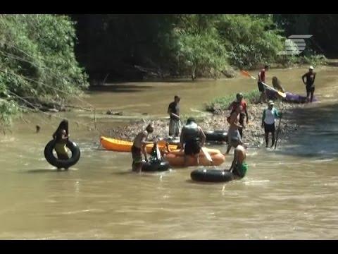 ONG REALIZA LIMPEZA NO RIO JAGUARI
