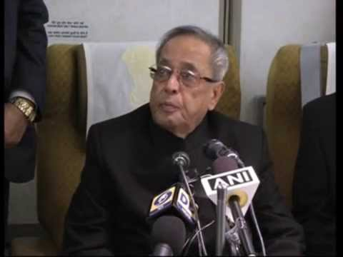 Indian President Pranab Mukherjee returns home after successful trip to Norway, Finland