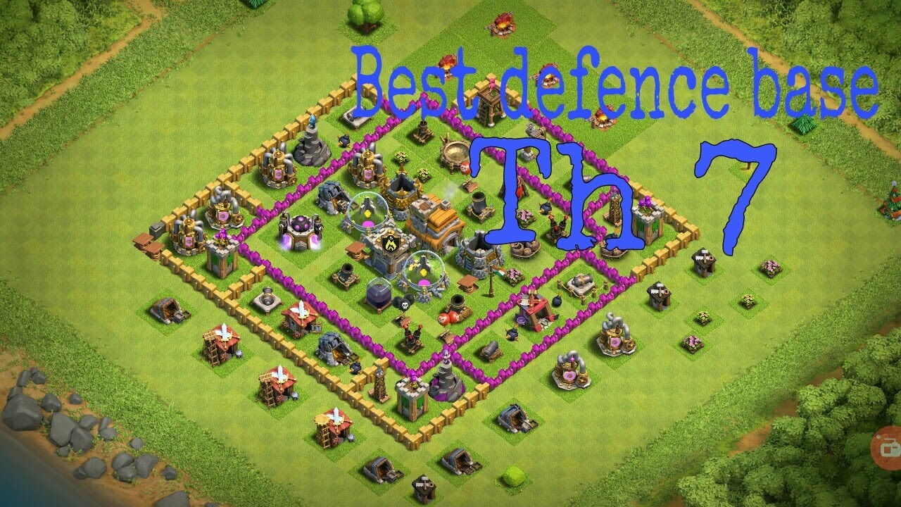 Coc Th 7 Best Defence Base 10