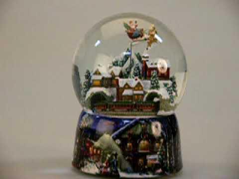 Santa & Train Musical Glitterdome  - Plow & Hearth