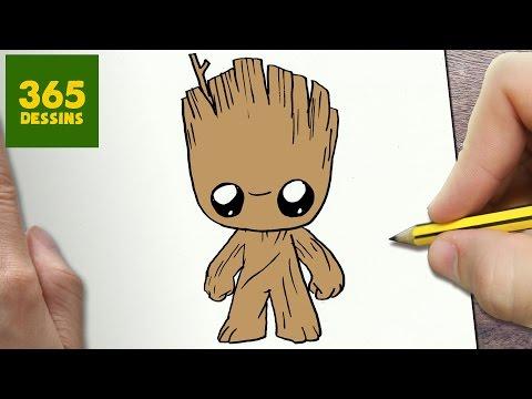 Comment Dessiner Groot Kawaii étape Par étape Dessins