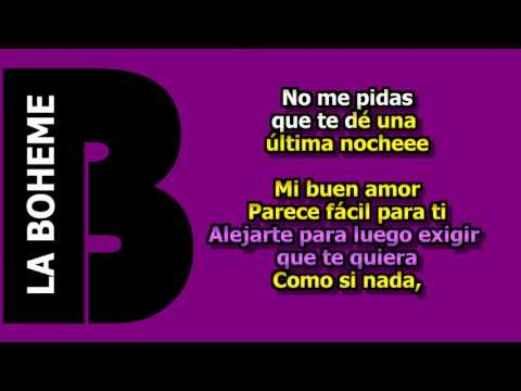 Mon Laferte Ft Enrique Bunbury Mi Buen Amor Karaoke HD 1080
