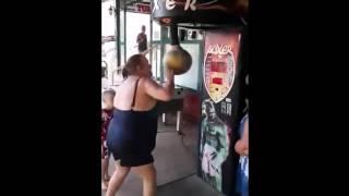 woman vs punch machine we will rock you remix