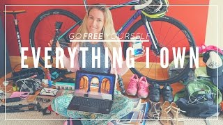EVERYTHING I OWN IN THE WORLD | Minimalist life