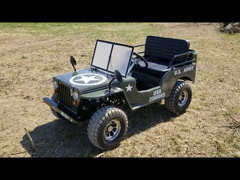 Driving the 125cc Mini jeep Mini Truck Golf Cart Lifted