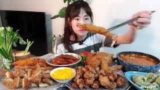 요리쌤 치킨새우튀김만두라면 먹쟈 안주가땡기는날 집밥야식…
