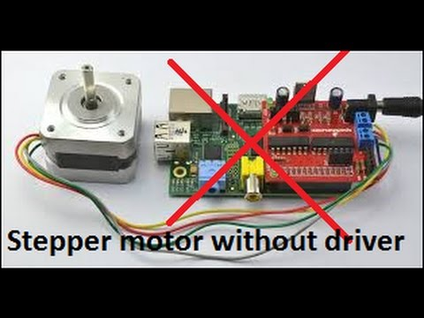 Hacked stepper motor without driver youtube for How to run stepper motor without driver