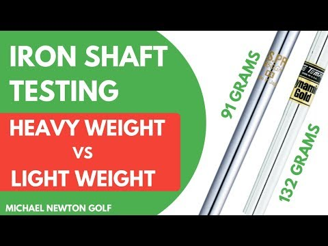 Golf Iron Shaft Test - Heavyweight Shaft VS Lightweight Shaft With Launch Monitor Results