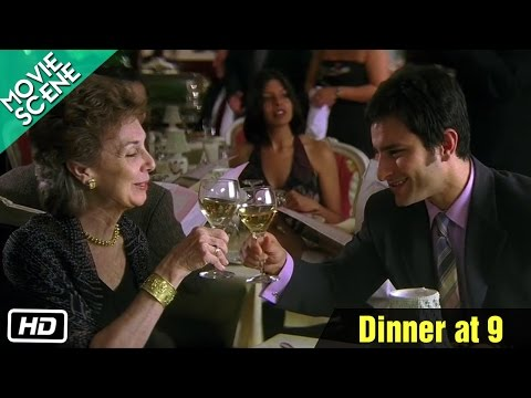 """Dinner at 9"" - Movie Scene - Kal Ho Naa Ho - Shahrukh Khan, Saif Ali Khan & Preity Zinta"