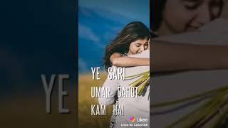 New WhatsApp status Sach bolu to tumse milkar yahi baat