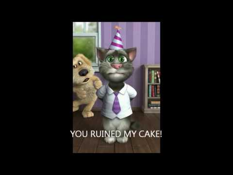 TALKING TOM CAT SINGS HAPPY BIRTHDAY TO KEVIN YouTube