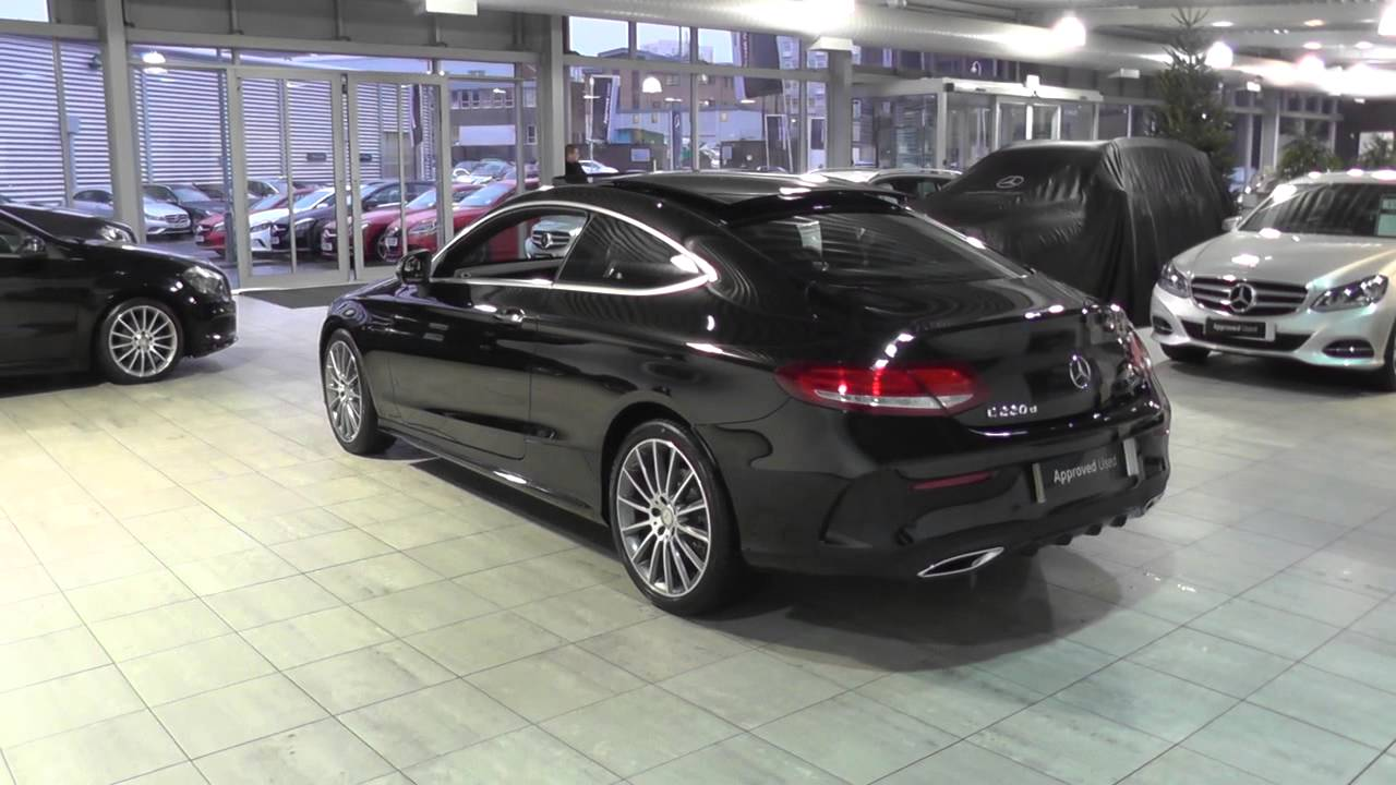 mercedes benz c class coupe 2015 c 220 d amg line coupe u44606 youtube. Black Bedroom Furniture Sets. Home Design Ideas