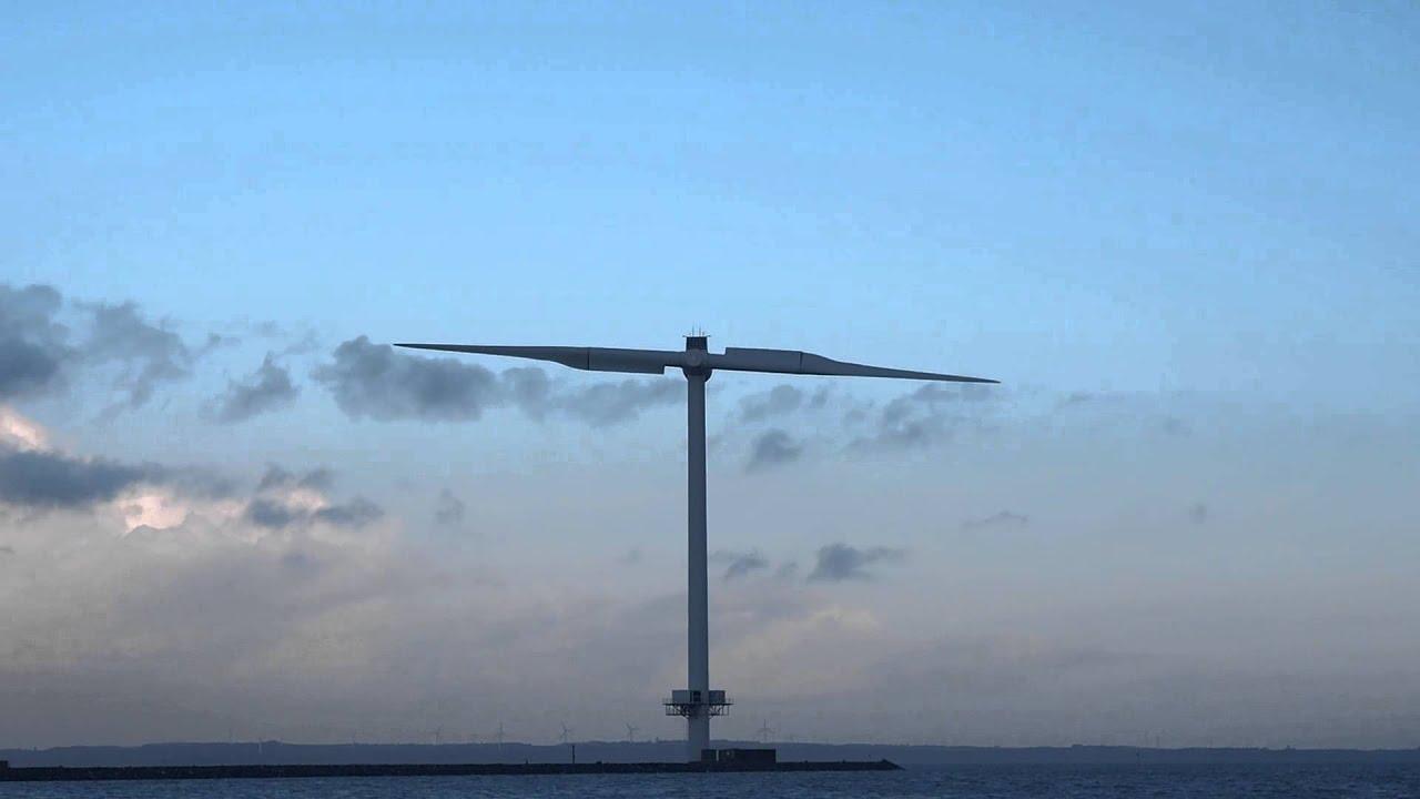 Envision Energy's Vindmølle med 2 vinger ved Thyborøn